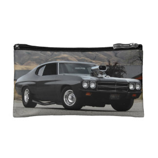 1970 Chevy Chevelle Drag Muscle Car Cosmetic Bag