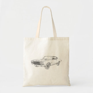 1970 chevy chevelle tote bag