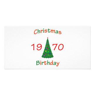 1970 Christmas Birthday Card