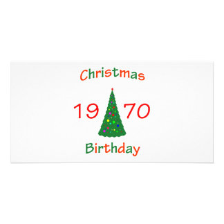 1970 Christmas Birthday Photo Card