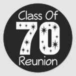 1970 Class Reunion Stickers Round Sticker