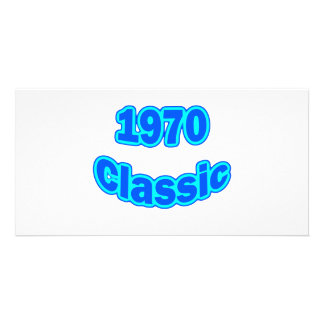 1970 Classic Blue Personalized Photo Card