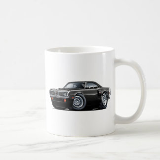 1970 Coronet RT Black-White Hood Scoop Car Coffee Mugs