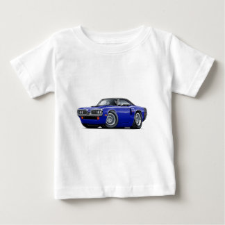 1970 Coronet RT Dk Blue-Black Top Hood Scoop Car T Shirt