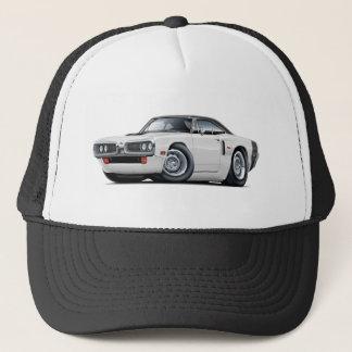 1970 Coronet RT White-Black Top Hood Scoop Car Trucker Hat