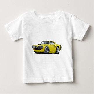 1970 Coronet RT Yellow-Black Hood Scoop Car Tee Shirt