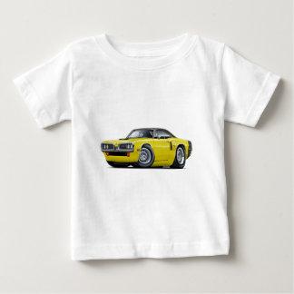 1970 Coronet RT Yellow-Black Top Hood Scoop Car T-shirt
