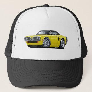1970 Coronet RT Yellow-Black Top Hood Scoop Car Trucker Hat