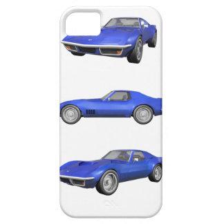 1970 Corvette: Blue Finish: iPhone SE/5/5s Case