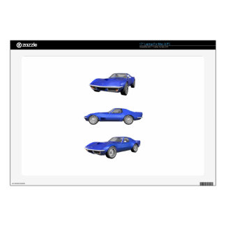 1970 Corvette: Blue Finish: Laptop Decals