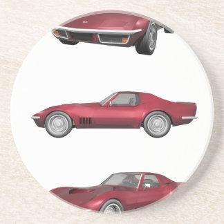 1970 Corvette: Candy Apple Finish: Coaster
