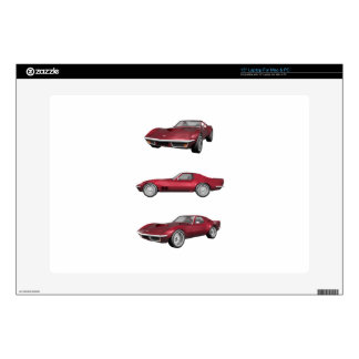 """1970 Corvette: Candy Apple Finish: Decals For 15"""" Laptops"""