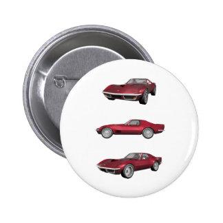 1970 Corvette: Candy Apple Finish: Pinback Button