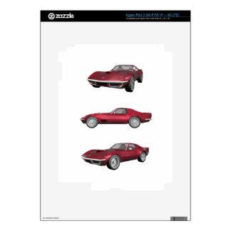 1970 Corvette: Candy Apple Finish: Skin For iPad 3