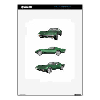 1970 Corvette: Green Finish Decals For iPad 2