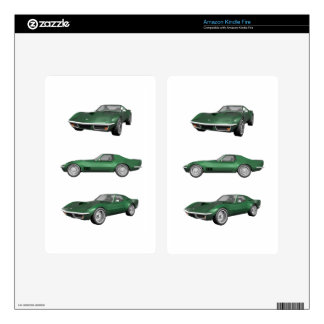 1970 Corvette: Green Finish Skin For Kindle Fire
