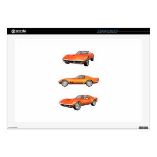 "1970 Corvette: Orange Finish Decal For 17"" Laptop"