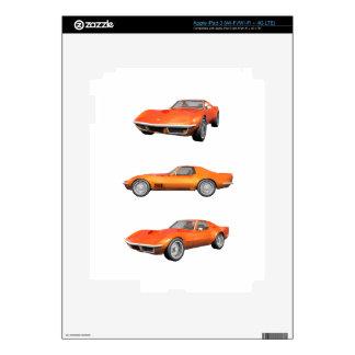 1970 Corvette: Orange Finish Skin For iPad 3