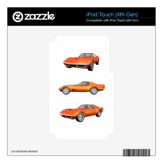1970 Corvette: Orange Finish Skins For iPod Touch 4G
