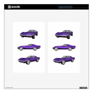 1970 Corvette: Purple Finish Skin For Kindle Fire