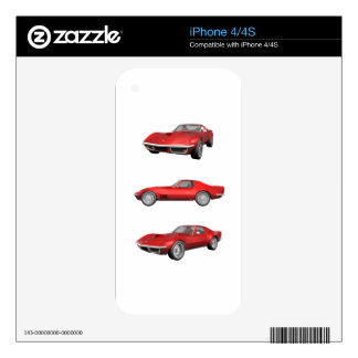 1970 Corvette: Red Finish Decals For The iPhone 4S