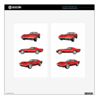1970 Corvette: Red Finish Kindle Fire Decals