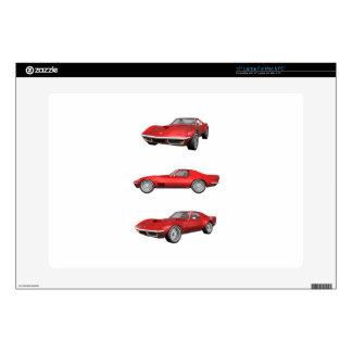 """1970 Corvette: Red Finish Skin For 15"""" Laptop"""
