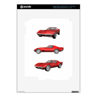 1970 Corvette: Red Finish Skin For iPad 3