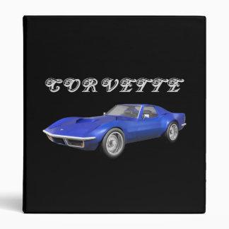 1970 Corvette Sports Car: Blue Finish: Binder