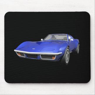 1970 Corvette Sports Car: Blue Finish Mouse Pad