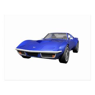 1970 Corvette Sports Car: Blue Finish Postcard