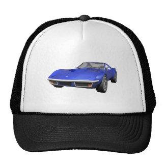 1970 Corvette Sports Car: Blue Finish Trucker Hat