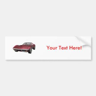 1970 Corvette Sports Car: Candy Apple Finish: Bumper Stickers