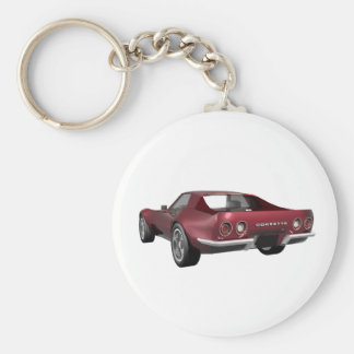 1970 Corvette Sports Car: Candy Apple Finish: Keychain