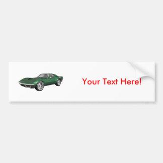 1970 Corvette Sports Car: Green Finish Bumper Sticker