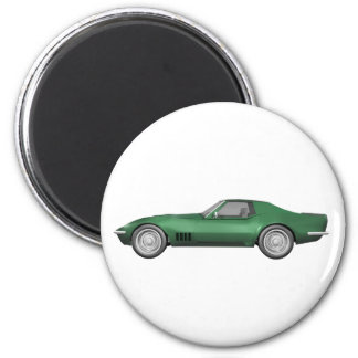 1970 Corvette Sports Car: Green Finish Magnet