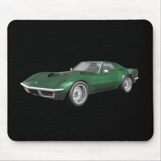 1970 Corvette Sports Car: Green Finish Mouse Pad