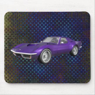 1970 Corvette Sports Car: Purple Finish: Mousepad