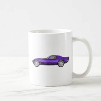 1970 Corvette Sports Car: Purple Finish: Classic White Coffee Mug