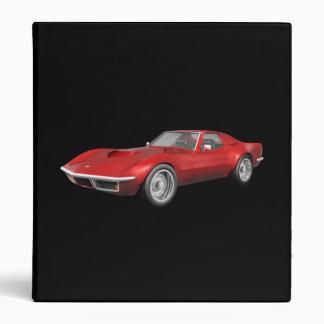 1970 Corvette Sports Car: Red Finish: Binder