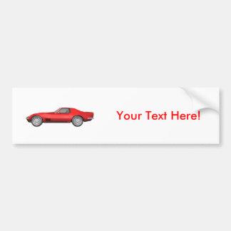 1970 Corvette Sports Car: Red Finish Bumper Sticker