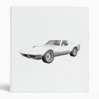 1970 Corvette Sports Car: White Finish: Binder