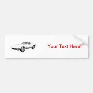 1970 Corvette Sports Car: White Finish Bumper Stickers