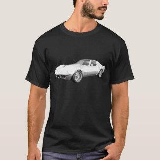1970 Corvette Sports Car: White Finish T-Shirt