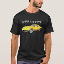 1970 Corvette Sports Car: Yellow Finish: T-Shirt