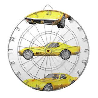 1970 Corvette: Yellow Finish: Dartboards