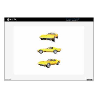 """1970 Corvette: Yellow Finish: Skins For 15"""" Laptops"""