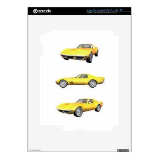1970 Corvette: Yellow Finish: Skins For iPad 3