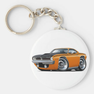 1970 Cuda AAR Orange Car Keychain