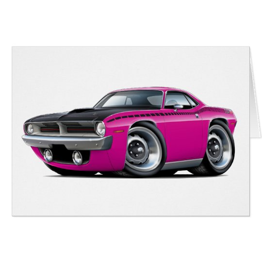 1970 Cuda AAR Pink Car Card